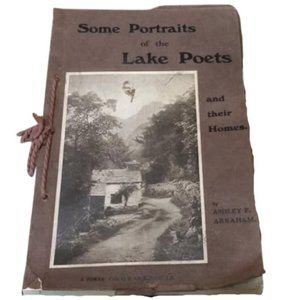 1913 Antique Book British Poets & Their Homes